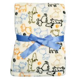 Baby Gear Plush Velboa Ultra Soft Baby Blanket 30 x 40, Whit