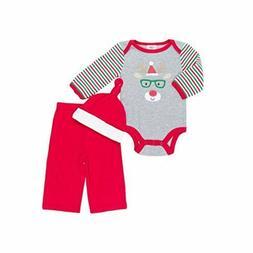"Baby Gear Unisex Baby ""my 1st Christmas"" 3 pc Bodysuit Pant"