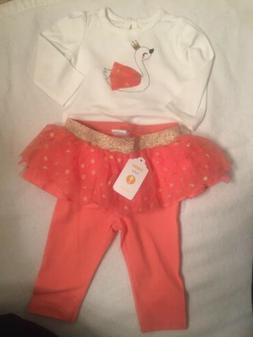 Gymboree Baby Girl 3-6mOutfit Shirt And Leggings With-tutu N