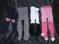 BABY GIRL 6-12 TIGHTS LOT CAT STRIPE CARTERS OLD NAVY GYMBOR