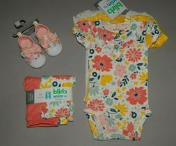 Baby girl clothes, Newborn, Carter's bodysuits, pants & shoe