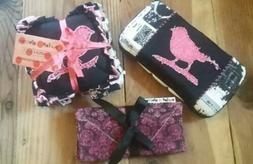 Baby Girl HANDMADE GIFT SET - Sensory Rag Quilt Toy, Baby Wi