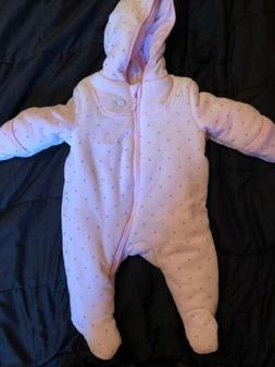CALVIN KLEIN BABY Girl Infants PINK SNOW SUIT Size 3-6 Month