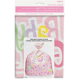 Baby Girl Pink Jumbo Plastic Gift Bag Great w/ Large Present