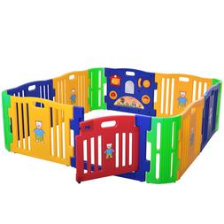 Baby Girl Playpen 12 Panel Kids Safety Play Center Yard Home