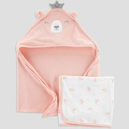 Baby Girls' Bear Bath Towel Set - Just One You made by Carte