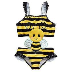 Achiyi Baby Girls One Piece Bee Swimwear Bathing Suits Super