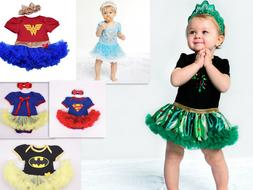 BABY GIRLS PRINCESS dress Superhero Girl Tutu Fancy Party Ou
