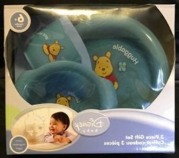 Disney Baby Huggable Winnie The Pooh Feeding Gift  Set Plate