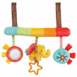 baby infant rattles plush animal stroller music