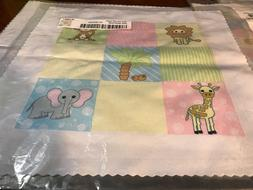3dRose Baby Jungle Animals Print Pastels qs-13839-1 fast fre