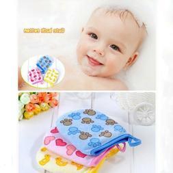 Baby Kid Cartoon Cotton Bath Gloves Mitt Child Infant Soft W