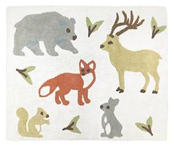 Baby Kid Floor Rug For Sweet Jojo Woodland Forest Animal Toi