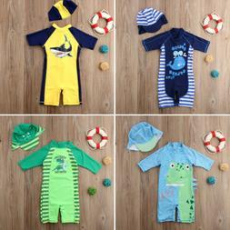Baby Kid Girl Boy Sun Protective Swimwear Rash Guard Costume