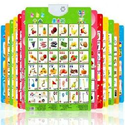 Baby Kids Alphabet Fruit Sound Wall Chart Early Learning Edu