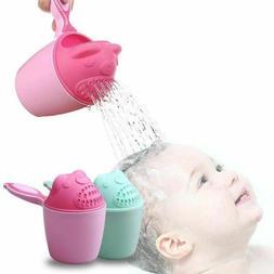 Baby Kids Cartoon Bear Bathing Cup Baby Shower Shampoo Cup