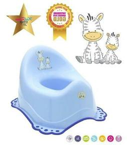 Baby Kids Potty Pot Toilet Seat Trainer Training Plastic Blu