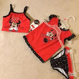 Disney Baby Minnie Mouse Infant Red Bathing Suit 18 M NWT 3