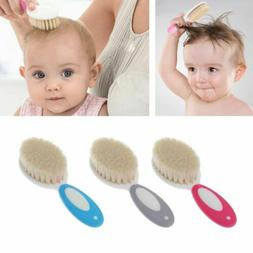 Baby Newborn Infant Care Pure Natural Wool Brush Hair Brush