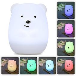LumiPets Baby Night Light Nursery Lamp - Cute Portable LED S