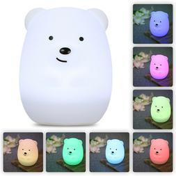 Lumipets Baby Night Light Nursery Lamp, Cute USB Rechargeabl