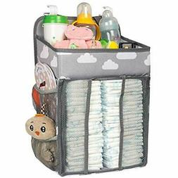 Baby Nursery Organizer And Diaper Caddy, Hanging Stacker Sto