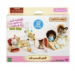 Calico Critters Baby Nursery Set 20pcs Cot High Chair Slide
