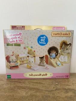 Calico Critters Baby Nursery Set Dolls Includes Over 20 piec
