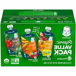 Gerber Baby Organic 2nd Foods, Variety Pack   E-10.12MG1
