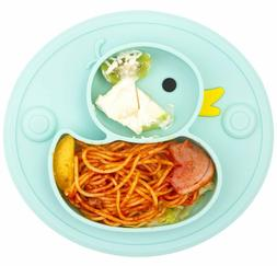 100% Silicone Divided Dishes Baby Toddler Suction Plate BPA-