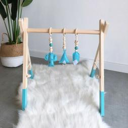 Baby Play Wooden Stand Nursery Hanging Fun Toys Mobile Wood