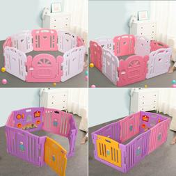 Baby Playpen Kids 6/8 Panel Safety Play Center Yard Home Ind