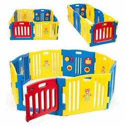 Kidzone Baby Playpen Kids 8 Panel Safety Play Center Yard Ho