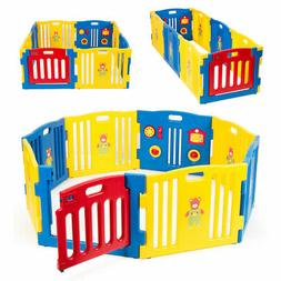 Kidzone Baby Playpen Kids 8-Panel Safety Play Center Home In