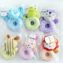 Baby Plush Toy Development Rattles Infant Kid Rings Toddler
