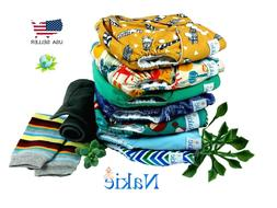 Nakie Baby Pocket Cloth Diaper Set 7 + Leg Warmers + Charcoa