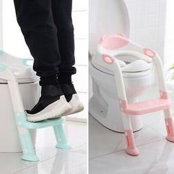 Baby Potty Training Seat Children's Kids Toilet Seat W/ Step
