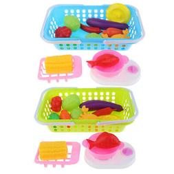Baby Pretend Food Toy Fruits Vegetables Kitchen Play Food Se