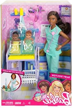 Baby Doctor Playset, Pretend Toys African American Doll Medi