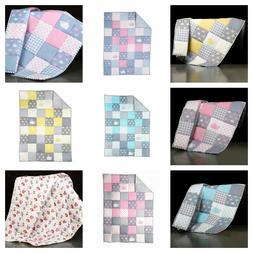 Baby Quilt Nursery Bedding Handmade Baby Blanket Warm Soft C