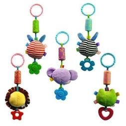 Baby Rattles Infant Animal Hand Bell Kids Plush Toy Developm