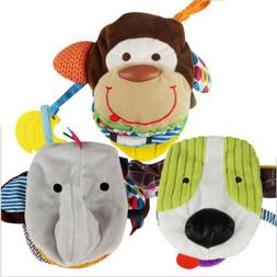 Baby Rattles Teether Toys Cute Animal Cloth Book Education L