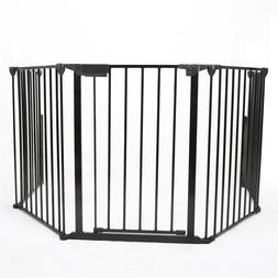 Baby Safety Fireplace Fence Hearth Gate BBQ Metal Fire Gate