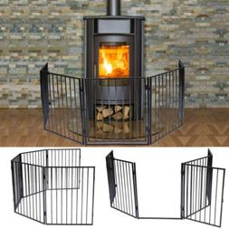 Baby Safety Fireplace Fence Hearth Metal Fire Gate Pet Cat D