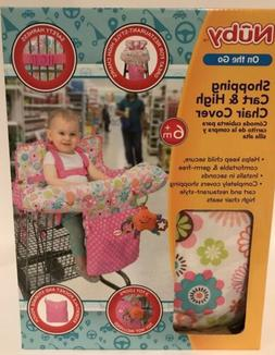 Nuby Baby Shopping Cart High Chair Cover Girls Floral Toddle