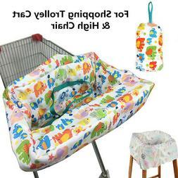 Baby Shopping Trolley Cart Seat Pad Child Kid High Chair Cov