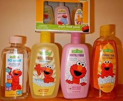 Sesame Street Baby Skin Care Set - Shampoo, Lotion, Body Was