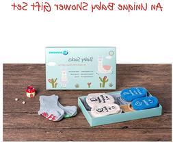 Baby Socks Gift Set, Shower Gifts Newborn Funny Present, Uni
