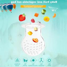 Baby Soft Silicone Pacifier Bottle Fresh Food Nibbler Kids F