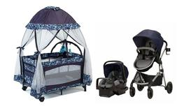 Baby Stroller And Car Seat With Infant Playard Nursery Plus